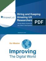 Hiring ux researchers