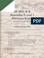 DB 601 A-B Baureihe 0 und 1 Motorenkarte