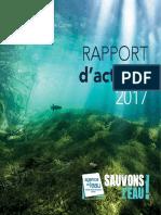 Le rapport d'activités 2017 de l'agence de l'eau