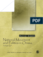 National Movement and Politics in Orissa, 1920–29 by Pritish Acharya
