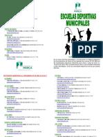 Folleto Escuelas Deportivas Municipales -4-16 Anos- - EEDDMM 2016-2017