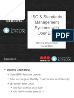 ISO & Standards Management Systems with OpenERP