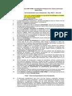 Checklist COEP UFMG