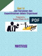 Sesi 14-Motivasi Karyawan _ Kepemimpinan Dalam Organisasi