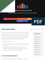 Técnica Vocal Completa – Complete Vocal Institute