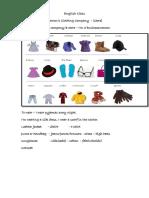 English Class- Clothes