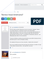 Técnica Vocal Americana?