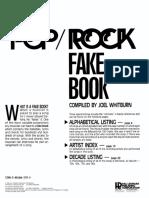 Songbook - The Ultimate Pop Rock Fake Book