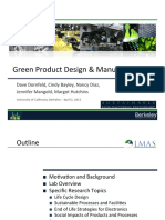 Green product design and manufacturing
