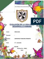 Evolucion de La Vida en El Desarrollo Humano (Autoguardado)