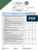 CID CF No. 11 Classroom M&E Checklist Shs