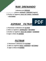 ASPIRAR  DRENANDO