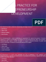 Questionnaires on Entrepreneurship development