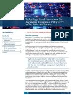 2018 RegTech Report FINRA