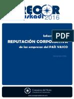 Informe sobre la  REPUTACIÓN CORPORATIVA  de las empresas del PAÍS VASCO