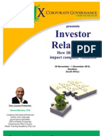 Investor Relations - Valuation and Strategies
