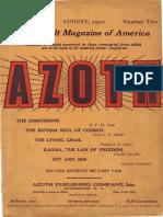 Azoth August 1920