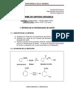 informe sintesis mnitrobenzoato