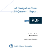 Review of Navigation Team 2018 Quarter 1 Report