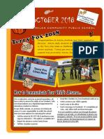 Arklan School Newsletter for October 2018