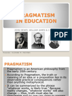 Pragmatism in Education_report of Suzanne Paderna
