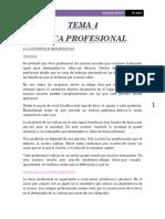 Tema 4 La Etica Profesional