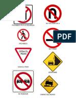Señales de Transito - Ilustraciones - Con Nombres