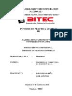 INFORME DE PRACTICAS - MODULO III