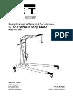 2 Ton Hydraulic Shop Crane