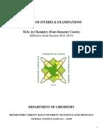 M.Sc Chemistry syllabus, DCRUST Murthal