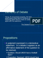 6 Elements of Debate