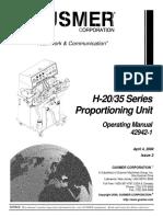 Manual de Operacion Aplicador de Poliuretano Gusmer 42942-1