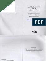Wilfredo Calderón - La Administración en La Iglesia Cristiana
