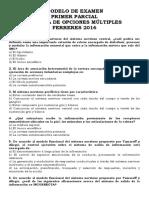 Modelo de Primer Parcial Multiple Choice Nro 6 Neurofisiologia Catedra Ferreres