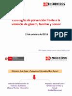 Estrategias de Prevención Frente a La Violencia de Género, Familiar y Sexual