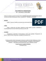 Relatório 2018-1 Comunicação