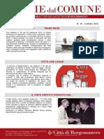 Notizie Dal Comune di Borgomanero del 4 Ottobre 2018