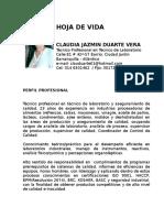Hoja de Vida Claudia Duarte
