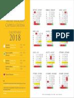 Calendario_musei Capela Sistina 2018