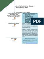 18.09.27 Participación en La FiestaCienciasHumanidades 2018_Universum