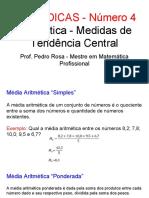 Dica ENEM 4 - Estatística Medidas de Tendência Central