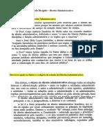 Estudo Dirigido - Direito Administrativo