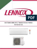 Mini Splits Lennox 12000 a 22000btu Brochure