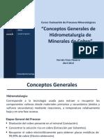 01 Conceptos Generales Hidrometalurgia