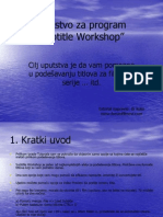 "Uputstvo za program ""Subtitle Workshop"""