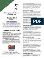 Delaware Community Matters Newsletter, October 2018