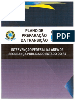 Plano de Transição - Intervenção Federal na área de Segurança Pública do Estado do RJ