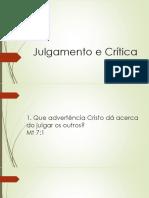 Critica e Julgamento