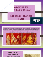 Mujeres de Grecia y Roma