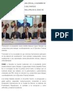 27-08-2018 Astudillo Flores fija postura oficial, a nombre de sus homólogos emanados del Partido Revolucionario Institucional (PRI) en el seno de la reunión de la CONAGO.